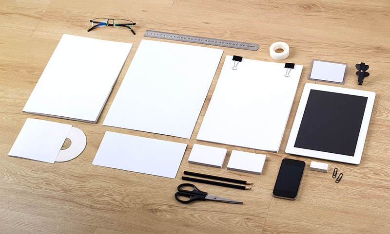 Don't let your brand get lost. Blank branding templates.